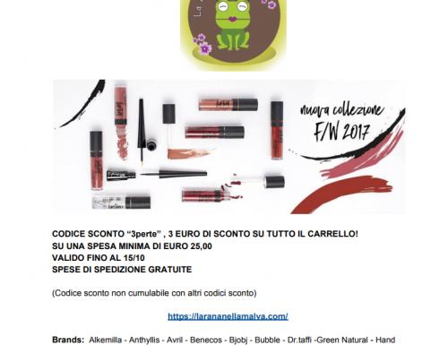 Collezione Fall/Winter 2017 – Purobio cosmetics e codice sconto