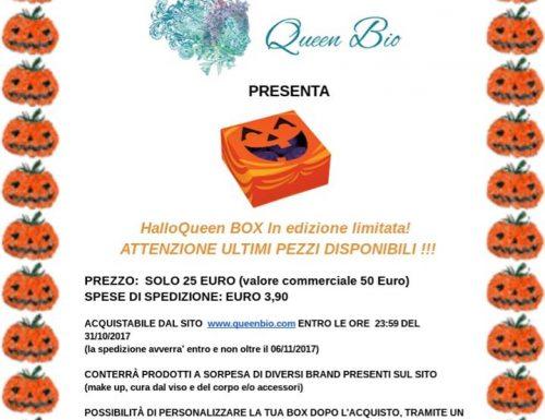 Sorpresa per Halloweeen :HalloQueen Box 25 Euro acquistabile da Queen Bio