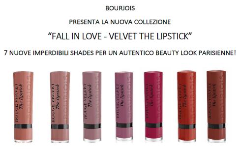 Collezione Fall in Love Velvet The Lipstick di Bourjois